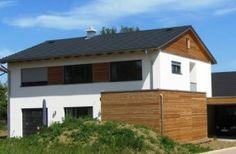 Fassade Holz- Putz - Weiß