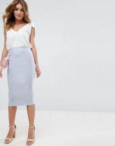 ASOS High Waist Longerline Pencil Skirt