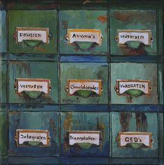 Het Ladenblokje van de Wiskundeleraar - oil on canvas - cm - € 275 Bari, Oil On Canvas, Paintings, Architecture, Arquitetura, Paint, Painting Art, Painting, Painted Canvas