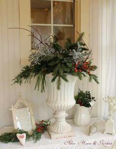 Christmas in ironstone or creamware