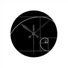 White Golden Spiral Round Clock