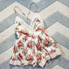 Buffalo Rose Romper in Cream, Sweet Lace Rompers from Spool No.72. | Spool No.72