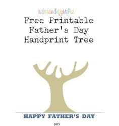 Handprint Tree for Father's Day.