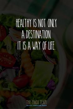 Healthy habits is what it's about. #MacaTeam