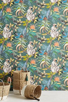 Discover unique wallpaper at Anthropologie, from printed wallpaper to floral wallpaper and more. Leopard Wallpaper, Monkey Wallpaper, Bold Wallpaper, Unique Wallpaper, Bathroom Wallpaper, Print Wallpaper, Screen Wallpaper, Leopard Tapete, Liberty Wallpaper