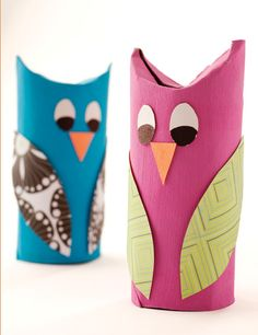 This simple owl project is a hoot for the whole family! Chances are the supplies are already on hand, so it's an easy project for a rainy day.