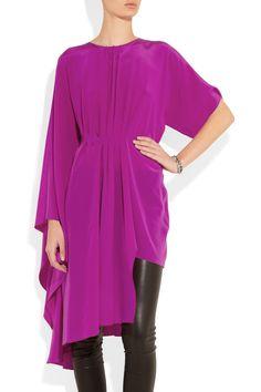 wooooow! Maison Martin Margiela|Asymmetric silk dress|NET-A-PORTER.COM