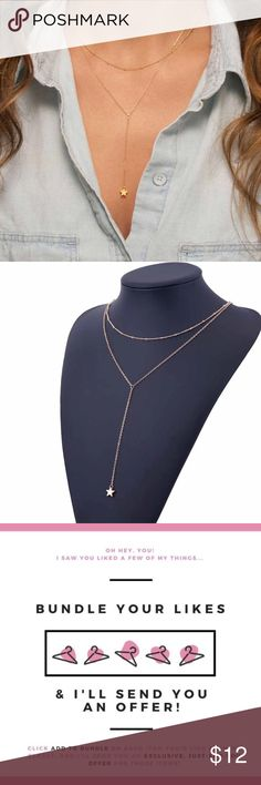 """New🎉 Gold Trendy Star Necklace Adjustable. Save more when you bundle just """"add to bundle"""" and I'll send u a private offer. COLOR: gold    Brand new ✅ ✨Boutique Item✨ Not accepting OFFERS on INDIVIDUAL ITEMS ❌ No trades ❌ No drama zone❌ No holds❌   💥🔅Prices are FIRM🔅💥    If u have any questions plz ask before purchase is made Jewelry Necklaces"""