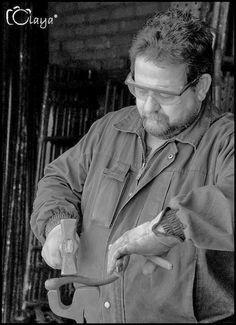 Juan Jesús Villaverde. Esculturas en hierro reciclado: En el taller.
