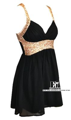 Short Black and Gold sparkles