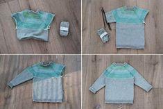 Návod na dětský pletený svetr s raglánovými rukávy Baby Knitting, Children, Sweaters, Handmade, Fashion, Young Children, Moda, Boys, Hand Made