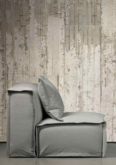Industrial lounge chair & Concrete wallpaper CON-06 (http://www.pinterest.com/AnkAdesign/collection-6/)