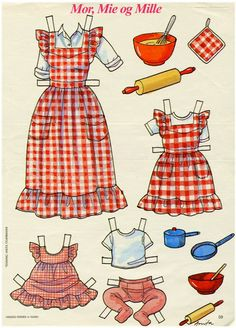 MOM, MIE and MILLE | Danish Mor, Mie and Mille Paper Dolls MaryAnn - Picasa Web Albums