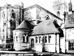St. Giles Church, view from High Street, Stony Stratford pre 1928