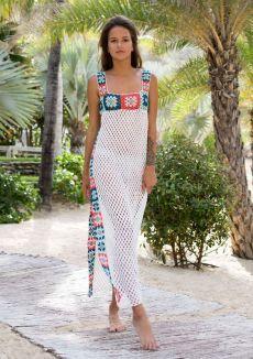 Crochet Dress Outfits, Crochet Clothes, Knit Dress, Bikini Crochet, Crochet Lace, Crochet Stitches Patterns, Beach Dresses, Dress Beach, Outfit Beach