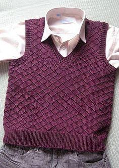 Los niños tejidos a mano lana chaleco, chaleco de niño de punto del bebé, muchacho blanco chaleco, tapa del tanque para niño