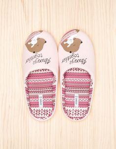 Lovely jacquard slippers - Oysho & Friends - Footwear - Serbia
