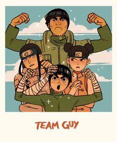 Might Guy, Neji Hyuga, Rock Lee e Ten Ten His name is Maito Gai, not guy Naruto Uzumaki, Anime Naruto, Manga Anime, Art Naruto, Naruto Gaiden, Naruto Cute, Naruto Funny, Shikamaru, Naruto And Sasuke
