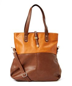Another great find on #zulily! Brown & Tan Flonce Tote by MKF Collection #zulilyfinds