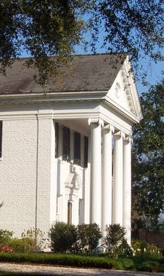 Side wing of Garden Road Home - Ionic Columns - New Orleans, Louisiana