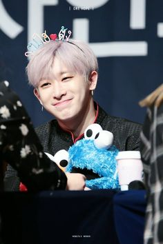 Wonho (원호) of MONSTA X  I just loved how super cute his smile is.