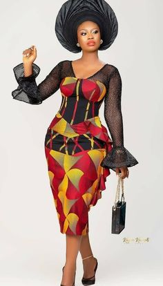 African Fashion Ankara, African Dresses For Women, African Attire, African Women, African Beauty, Latest Ankara Short Gown, Ankara Short Gown Styles, Short Gowns, Ankara Gowns