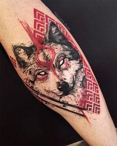 40 Masculine Wolf Tattoo Designs For Men - Beste Tattoo Ideen Wolf Tattoos, Tattoos Arm Mann, Tribal Tattoos, Tatoos, Wolf Face Tattoo, Cat Tattoos, Henna Tattoos, Badass Tattoos, Celtic Tattoos