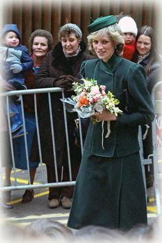 Princess Diana visiting a Children's Hospital in Bristol ~ 1983