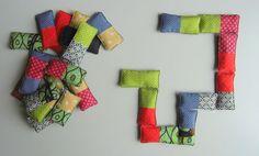 jeu de dominos en tissu