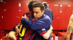 """Xavi: """"For any player in the @fcbmasia our role model is Leo Messi"""""""