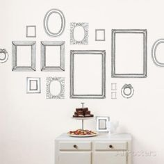Valerie Michel Hand Made Frames Wall Stickers Wall Decal at AllPosters.com