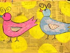There's a Party in the Art Room!: Pop Art Birds- James Rizzi lesson