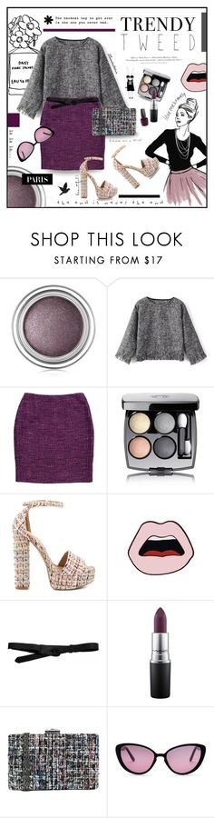 """""""Trendy Tweed"""" by zarabatavia ❤ liked on Polyvore featuring Christian Dior, Lafayette 148 New York, Chanel, Chinese Laundry, Yazbukey, Lowie, MAC Cosmetics, H&M, Aerie and JNB"""