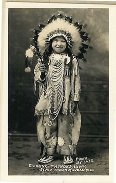 Fantastic real photo post card of studio closeup of Eugene Thunderhawk, Sioux Indian; photo by Lutz. Native American Children, Native American Pictures, Native American History, Native American Indians, American Symbols, Native American Spirituality, American Indian Art, Native Indian, North Dakota