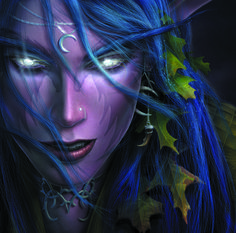 Warcraft 3 Night Elf, Justin Thavirat on ArtStation at https://www.artstation.com/artwork/warcraft-3-night-elf