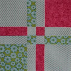 Disappearing 4-Patch from Chock a Block Quilt Blocks..direct link to her blog for the tutorial!