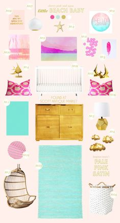 Beautiful color palette for a nursery