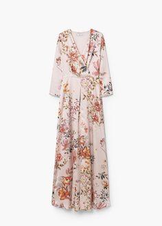 Vestit nit estampat floral   MANGO