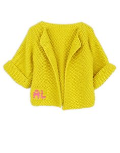 Chillax Cardigan - personalise it with baby's initials #woolandthegang #babygang