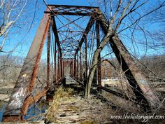 The Neshanic Station Railroad Bridge in Neshanic Station, #NewJersey. This metal pinned Pratt through truss, stationary bridge was built in 1896 and carried the Black River and Western Railroad. It is now abandoned. Discover more history @ www.thehistorygirl.com