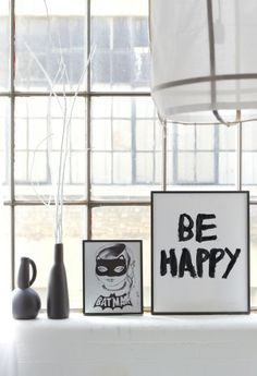Be Happy print by BODIE and FOU — Bodie and Fou - Award-winning inspiring concept store Interior Styling, Interior Design, Sweet Home, Home And Living, Living Room, Living Spaces, Interior Inspiration, Pop Up, New Homes