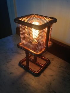 Copper Pipe Desk Lamp - on a larger scale this might work well for a brazier also