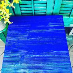 Venetian Blue Metallic Paint on Furniture   Project by @bibifrani on Instagram