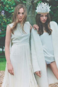 "Alma Durand & Karolina Gorzala in ""Like a Virgin"" photographed by Clare Shilland for ELLE France, June 2013"