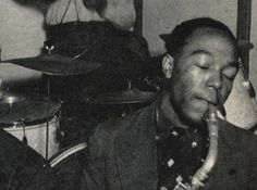 "It's the only photograph of the jazz great playing saxophone as a kid. Charlie ""Bird"" Parker, playing in Kansas City. Photo from the 1939 Kangaroo UKC yearbook (Photo: University Archives, UMKC)"