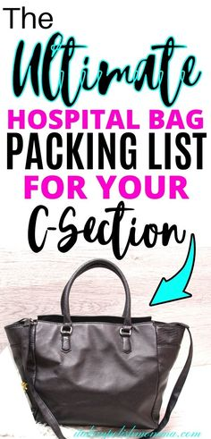Here is the best hospital bag checklist for a c-section delivery from a mom that had 4 c-sections! If you don't know what to pack for your scheduled c-section, this experienced mom breaks it down for you so you have all the hospital bag must haves you need! #hospitalbag #scheduledcsection Breastfeeding After C Section, Breastfeeding Tips, C Section Workout, Scheduled C Section, Hospital Bag For Mom To Be, Pregnancy Vitamins, Hospital Bag Checklist, Delivery Bag, Best Hospitals