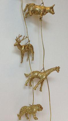 1x Glitter Dieren Slinger Kerstboom Slinger Goud Zilver by DeKudde, €10.00 Xmas, Christmas Tree, Glitter, Gold Necklace, Sparkle, Glamour, Jewelry, Teal Christmas Tree, Gold Pendant Necklace