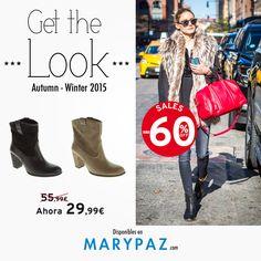 Demuestra tu lado más hit con los botines de piel de MARYPAZ ahora a 29,99€ !!!!!    Descubre las mejores REBAJAS con hasta el 60% dto. en muchos de nuestros artículos en TIENDA y ONLINE www.marypaz.com y aporta un toque cool a tu look <3 <3    #getthelook #consigueellook   Compra ya este BOTÍN DE PIEL REBAJADO en color negro haciendo clic aquí►http://www.marypaz.com/tienda-online/botin-de-tacon-de-piel-con-trenzas.html?sku=72612-35