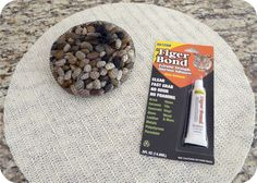 DIY Stone placemat - could also do as costers - hot pads - for under plants - floor mat.....etc