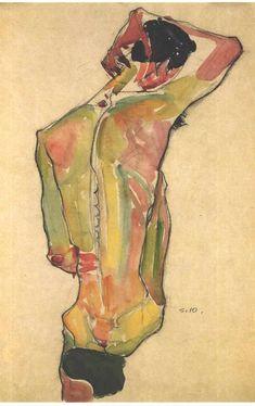 Egon Schiele ** Was een Oostenrijks expressionistisch kunstschilder… Gustav Klimt, Figure Painting, Figure Drawing, Painting & Drawing, Art And Illustration, Figurative Kunst, Art Graphique, Life Drawing, Banksy